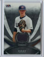 2010 BOWMAN STERLING CARD NO.USAR-29 SONNY GRAY JERSEY ROOKIE (RC), OAKLAND A'S