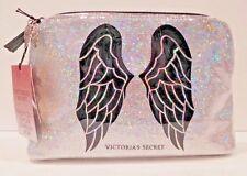 VICTORIA'S SECRET FASHION SHOW LONDON 2014 SILVER GLITTER ANGEL WINGS MAKEUP BAG
