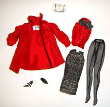 Silkstone Barbie Ensemble/Fashion Red Coat Slim Skirt For Barbie Dolls sk17