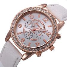 Superbe montre Quartz Geneve pour Femme Bracelet blanc Women Watch PROMO