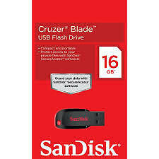 SanDisk Cruzer Blade 16 GB Pen Drive (Black & Red) WITH BILL