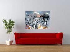 STAR WARS ATAT BATTLE HOTH FIGHT COMBAT GIANT ART PRINT PANEL POSTER NOR0079
