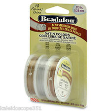 BEADALON 19 Strand Satin Color Beading Wire 3 Rolls
