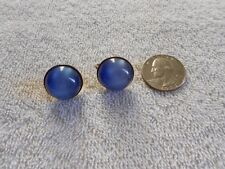 Vintage Blue Moonglow Thermoset Lucite Screw Earrings