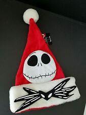 NIGHTMARE BEFORE CHRISTMAS JACK SKELLINGTON SANTA HAT NEW