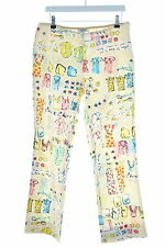 Moschino Womens Trousers W32 L28 Multi Cotton