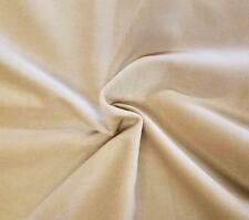 "Cream Cotton Velvet Velour Sewing Fabric Upholstery Drapery Sold Per Yard 54"" w"