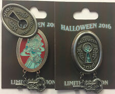 Disney Parks 2016 Halloween Haunted Mansion Lock & Key Ghost Bride LE Pin
