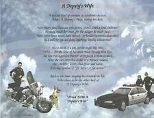 Deputy's Wife Poem Personalize with Name Police, Sheriff Gift Show Appreciation