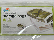 """2 Pack Vinyl zippered Storage bags; honey-can-do ;15.5"""" x 13.5"""" x 3""""; New unused"""