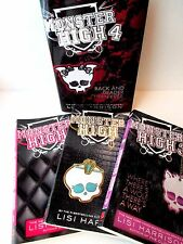 Monster High Books Series 1-4  Lot of 4 Lisi Harrison FREE SHIP Ghoul wolf back