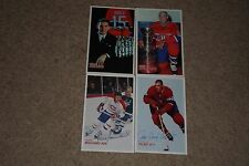 LOT OF (4) MOLSON EXPORT ALE MONTREAL CANADIENS SIGNED AUTOGRAPHED CARDS