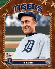TY COBB ~ 8x10 Color Photo Picture ~ Brown Studio Hall of Fame ~ Detroit Tigers