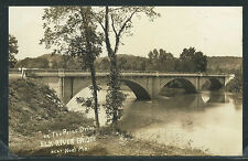 MO Noel RPPC 1941 ELK RIVER BRIDGE on THE PRIZE DRIVE Arched Bridge