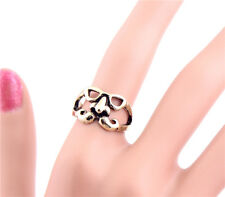 New Girls Women Fashion Vintage Gold Cute Nose Eyes Moustache Ring Size 6 TOP