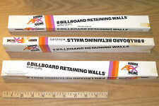 24pc 1974 Aurora AFX Slot Car BILL BOARDS Billboard RaceWal Guardrail Clips 1466