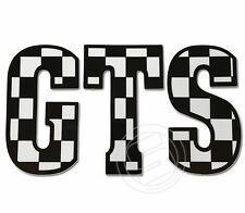 GTS Sticker Fits Vespa Legshield or Fly Screen -  Black and White Ska Decal LT17
