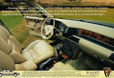 Publicité Advertising 1988 (2 pages) Rover 827i Sterling