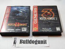 Lot of Mortal Kombat 2 II & 3 Sega Genesis Game Complete