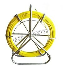 6MM 130M Duct Rodder Fish Tape Fiberglass Wire Cable Rod Walker Fishtape Puller