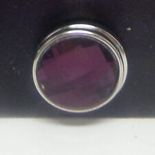 chunk button charm, universal snap dark purple faceted squares