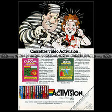 KABOOM ! & TENNIS Activision ATARI VCS 2600 Video Game 1984 : Pub / Ad #A1322