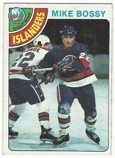 1978-79 TOPPS HOCKEY #115 MIKE BOSSY ROOKIE - VG+/EX-