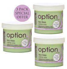 HIVE OPTIONS TEA TREE CREME WAX TRIPLE PACK OPT5737 425g PER TUB