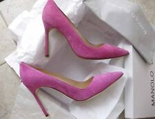 Manolo Blahnik AUTH NIB 105mm Pink Suede Leather BB Pumps 36.5