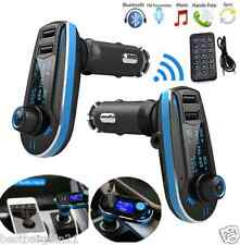 Bluetooth WIRELESS CAR MP3 RADIO FM TRASMETTITORE Dual USB PORT SD LCD Charger Kit