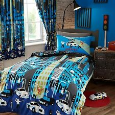 POLICE CAR CHASE SINGLE DUVET COVER NEW KIDS BEDDING