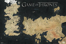(LAMINATED) GAME OF THRONES WORLD MAP POSTER (61x91cm) WESTEROS ESSOS PICTURE