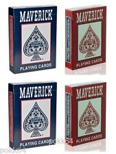 Lot de 4 jeux de 52 cartes POKER MAVERICK 54 cartes Regular Rouge et Bleu 12059