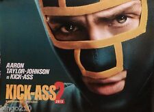 KICK ASS 2  QUAD POSTER CHLOE GRACE MORETZ AARON TAYLOR JOHNSON JIM CARREY 2013