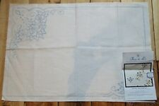 Vintage Fleur de Lis Buttermere Printed Cut out Embroidery tray table cloth