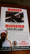 Original Bin Laden Wanted Poster- Issued By the US State Dept in 1999.