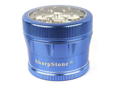 "1X SharpStone V2.0 Clear Top 4 Pieces Grinder - 2.5"" (Large) - BLUE"