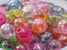 500+ wholesales 6mm AB Multicolor Round acrylic plastic loose beads