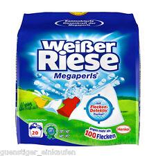 (4,02€/kg) Weißer Riese Megaperls Waschmittel Weißwäsche 1,35KG Vollwaschmittel