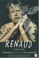 FLYER PLV - RENAUD EN CONCERT LIVE 2017 A MONTLUCON ALLIER ATHANOR / COMME NEUF