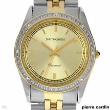 Pierre Cardin Watch Diamond - Two-Tone Champagne dial Diamond Accented PCD2182TC