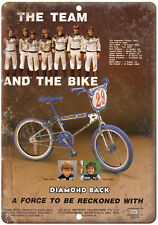 """Diamond Back BMX, A Force To Be Reconed With RARE ad 10"""" x 7"""" retro metal sign"""