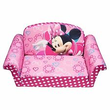 Marshmallow Furniture Minnies Bow-Tique Flip Open Sofa New