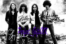 THIN LIZZY SIGNED AUTOGRAPHED 10X8 PRE-PRINT PHOTO