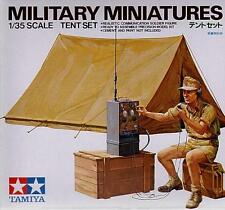 Tamiya 35074 1/35 Scale Military Model Kit Tent Set w/Communication Solider