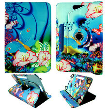 """Blue butterfly for Universal 7"""" Android Tablet Folio Leather Stand Case Cover"""