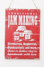 Wooden Jam Making Sign Gift Indoors Home Kitchen Retro