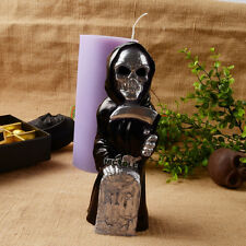 Skull Silicone Molds Candle Soap Making Skeleton Tombstone Graveyard Craft Clay