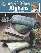 Afghan Stitch Afghans Tunisian Crochet Patterns Kim Wiltfang Annie's Attic NEW