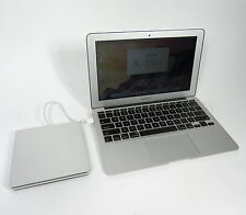 "APPLE MACBOOK AIR A1370 MC968LL/A 11.6"" 1.6 GHZ I5 2GB 64GB SSD + SUPERDRIVE"